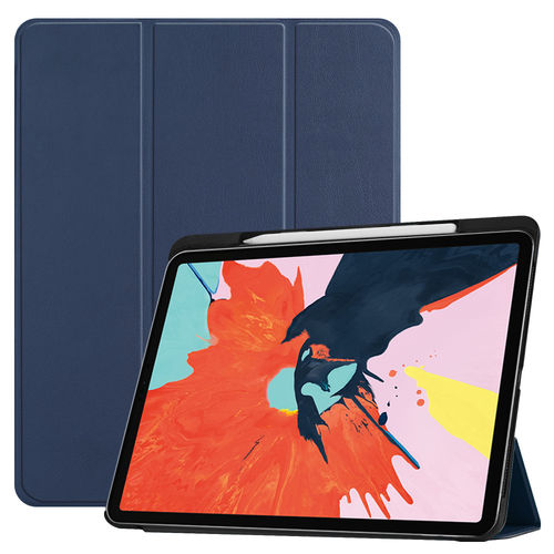 Trifold Smart Case Stand for 2018 Apple iPad Pro (12.9-Inch) - Blue